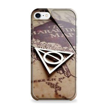 DEATHLY HALLOWS SYMBOL AND MARAUDERS MAP HARRY POTTER iPhone 6 | iPhone 6S Case