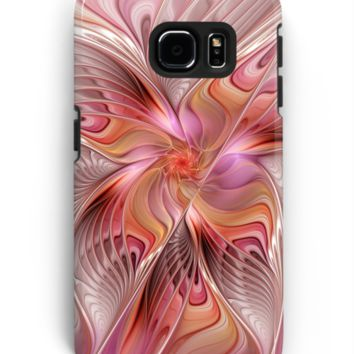 'Abstract Butterfly, Colorful Fantasy Fractal Art' Samsung Galaxy Hülle & Skin by gabiwArt