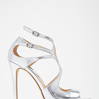 Metallic Strappy Cutout Pumps