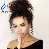 Hot 10A Glueless Human Lace Front Wig Lace Wig 130% Brazilian Curly Human Hair Wig With Baby Hair Full Lace Wig For Black Women