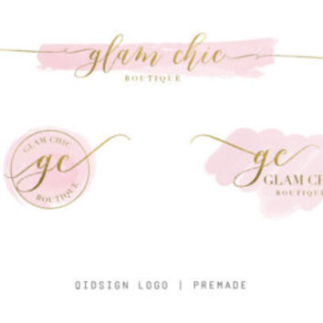Premade Branding Kit | Watercolor Logo | Stamp Logo | Gold Logo | Watermark | Photography Logo