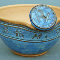 Hygeia Mortar and Pestle Set in Cobalt Blue EACH ONE UNIQUE