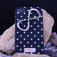 iphone 4/4S Case ,infinity iphone case Cath Kidstion Black White Spot Iphone 4S Case