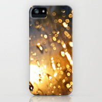 Gold Raindrops Blurry Sparkle iPhone Case by Rex Lambo | Society6