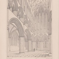 Antique Print Glasgow Cathedral - The Choir Looking East (A74) by Grandpa's Market