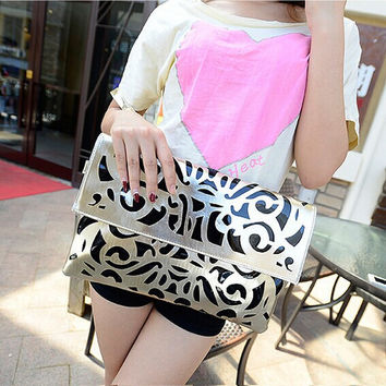 Stylish Korean Hollow Out Fashion Bags Shoulder Bags [6582702151]
