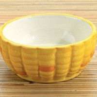 Corn Ceramic Dipping Bowl, Set Of 2 - 8624