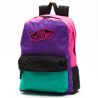 Vans Colorblock Realm Backpack (Multi Color Block)