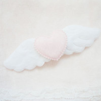 big♥angel wing hairclip
