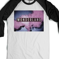 Wonderland-Unisex White/Black T-Shirt