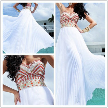 Attractive A-line Chiffon Floor Length Prom Dresses