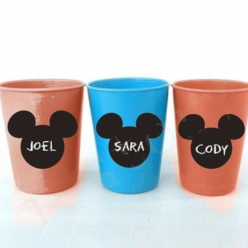 36pcs/set  Mickey Mouse Chalkboard Vinyl Labels -Kids Birthday Party Decoration, Playroom, kids party Glass Sticker Muraux D759