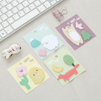 20Pcs/Pack Cute Lucky Animal Garden Sticky Post It N Times Memo Pad Notebook Student Sticky School Label Gift M0145