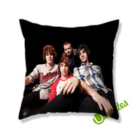 all time low music band Square Pillow Cover