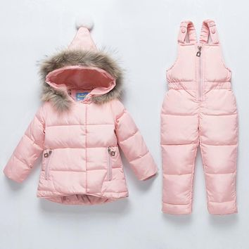Children's 2pc Down Hooded Snow Suit