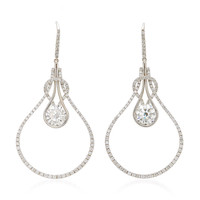 Round Brilliant Diamond Knot Earrings | Moda Operandi