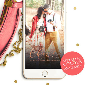Personalized Snapchat Geofilter-Whimsical Calligraphy Engagement Party Filter-Custom Snapchat Geofilter-Elegant Snapchat Engagement Filter