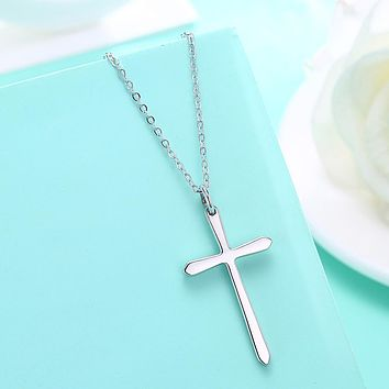 Womens Necklace Gift Ideas Sterling Silver Classic Unisex Cross Necklace