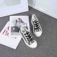Dior Black/White Fashion Casual Sneakers Sport Shoes Size 36-40