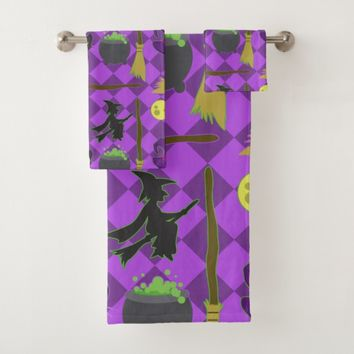 Halloween Witches Bath Towel Set