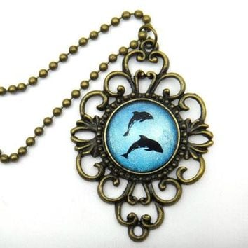 Holographic Dolphin Necklace