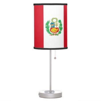 Patriotic table lamp with Flag of Peru