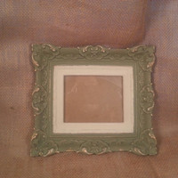 Vintage Plaster Picture Frame Hand Painted and Distressed