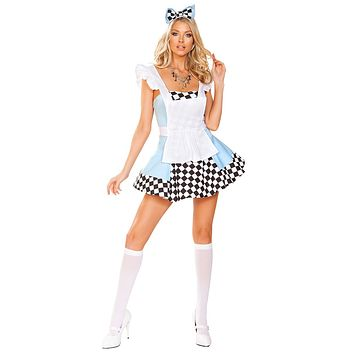 Sexy Adventures in Wonderland Mini Dress Costume
