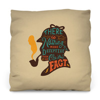 Sherlock Outdoor Throw Pillow