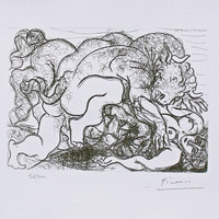 Minotaur Assaulting Girl, Ltd Ed Lithograph, Pablo Picasso-Vollard