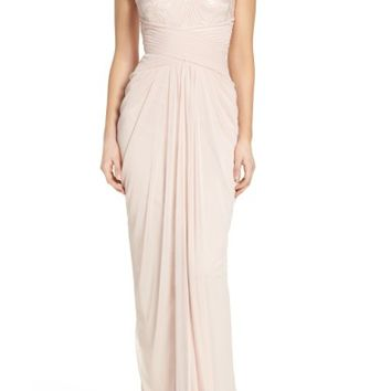 Adrianna Papell Sequin Lace & Tulle Gown   Nordstrom