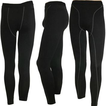 Mens Legging Black Compression Under Base Layer Leggings for Jogging Sport