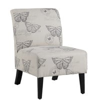 Linen Butterfly Lily Chair