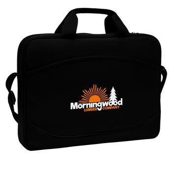 """Morningwood Company Funny 15"""" Dark Laptop / Tablet Case Bag by TooLoud"""