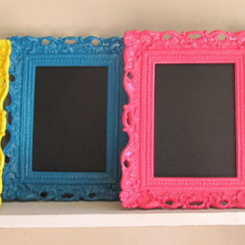 FRAMED CHALKBOARD (Pick Your Color)