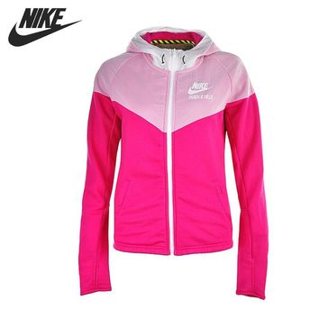 Original NIKE MIX FABRIC WINDRUNN Women's jackets Hooded Sportswear