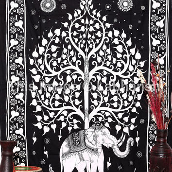 Elephant Tapestries , boho tapestries , Tree Of Life Tapestries , Wall Tapestries , Bohemian tapestries, Indian Tapestry Wall Hanging
