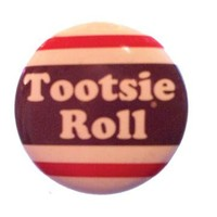 Loungefly Tootsie Roll Logo Button Accessories Buttons and Pins Buttons at Broken Cherry