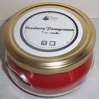 Cranberry Pomegranate 7 oz candle - November fragrance of the month, 10% off