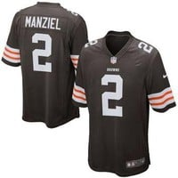 Johnny Manziel Cleveland Browns Nike 2014 NFL Draft #2 Pick Round 1 Game Jersey - Brow