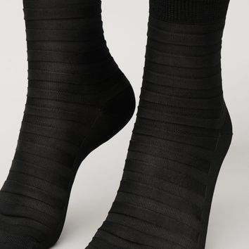Raised stripe socks - Black - Socks & Tights - COS FR