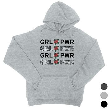 365 Printing Girl Power Womens Hooded Sweatshirt Cute Women's March Outfit Ideas