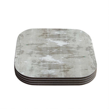 "CarolLynn Tice ""Effortless"" Neutral Gray Coasters (Set of 4)"
