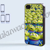 Toy Story Aliens - iPhone 4 case - iPhone 4S case - Samsung Galaxy S3/S4 - iPhone case - Hard Plastic - Case Soft Rubber Case