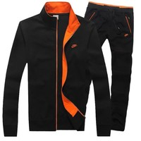 Nike Cardigan Jacket Coat Pants Trousers Set Two-Piece-1