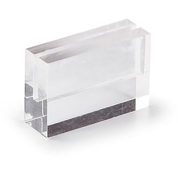"""6 Pack - Acrylic Base Table Card Holders - 1"""" Tall x 1.5"""" Wide"""
