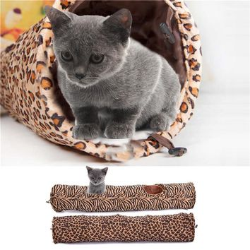 Pet Cat Tunnel 120cm Long Tunnel Toy Fun Toys for Cats Rabbit Kitten Play Tunnel Washable Toys Pet Supplies 2 Pattern