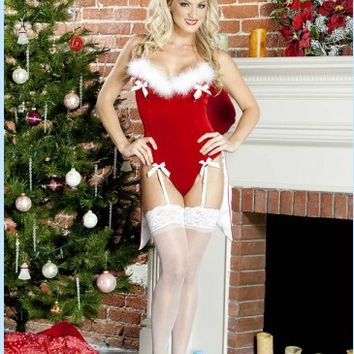 Red Bunny Lingerie Costume