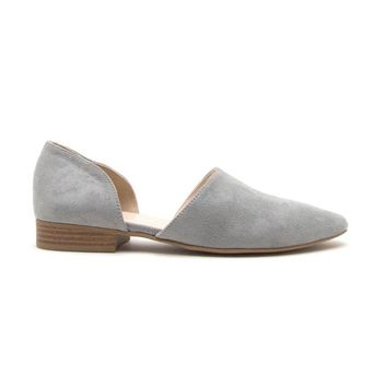 Flat Out Suede Slip On In Grey