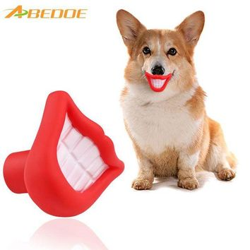 LMFYN5 ABEDOE Small Squeaky Sound Vinyl Pet Toy Flame Blazing Red Lip Shape Fun Chew for Training Chew Sound Activity Toy Puppy Dog Pet